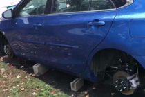 ¡Cuidado! Hurtan neumáticos en el noreste de Miami
