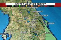 Frente frío se mueve hacia centro de Florida y será soleado el día de Navidad