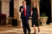 Donald Trump conversó con tropas y fue a servicio religioso en Navidad