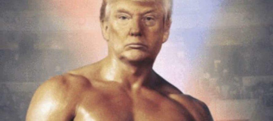 Donald Trump publica polémica fotografía con su cara en el cuerpo de Rocky Balboa