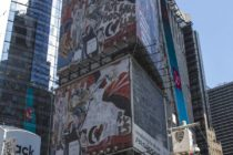 Domingo Zapata exhibe un gigantesco mural en Times Square (+Fotos)