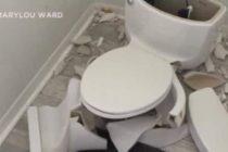 Rayo hizo explotar inodoro dentro de casa en Florida